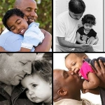 father and child collage